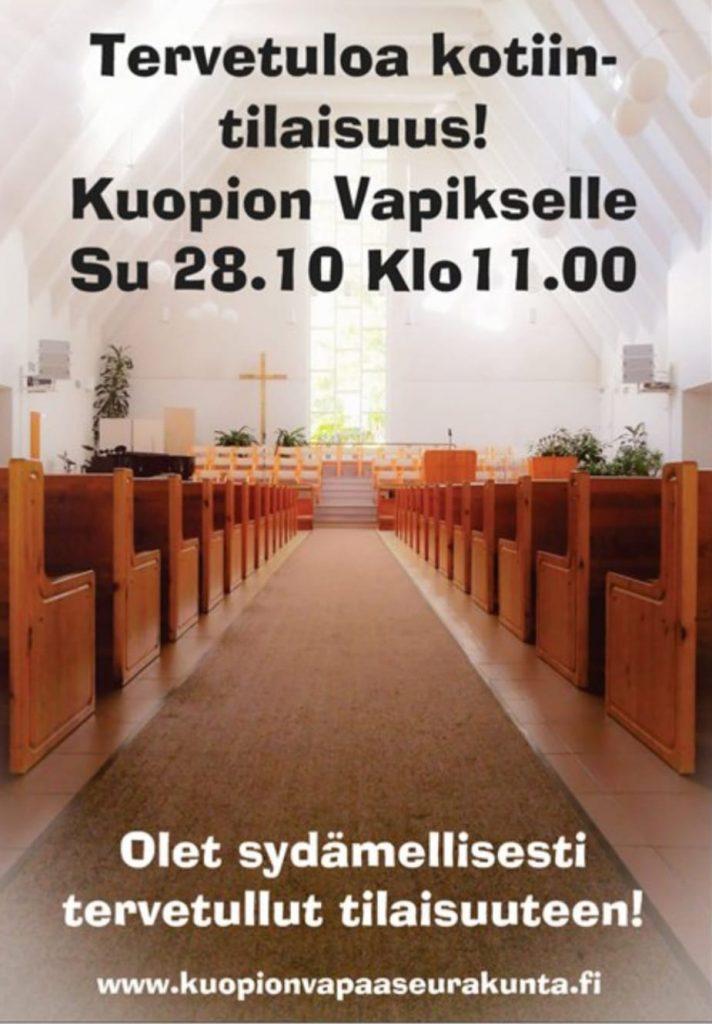 Kuopion Vapaaseurakunnan kirkkosali