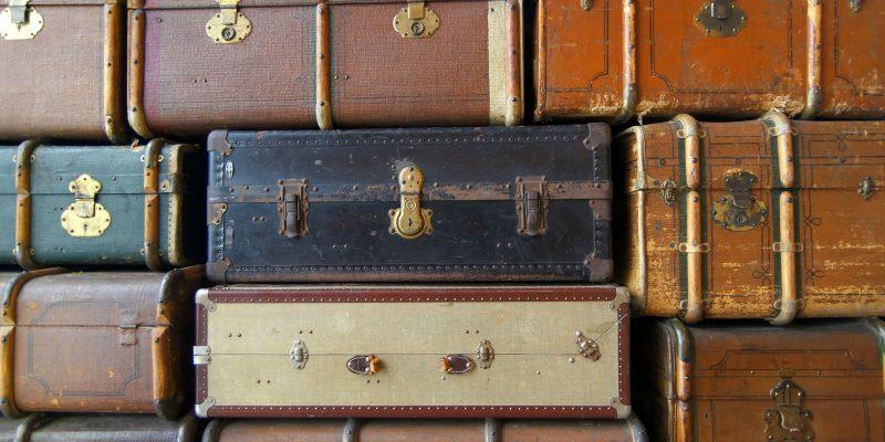 Vanhoja matkalaukkuja